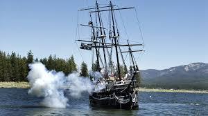 sunken pirate ship pulled from big bear lake may sail again ktla