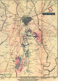 Map Of The Northeast This Map Of The Gettysburg Battlefield On July 3 1863 Also Shows