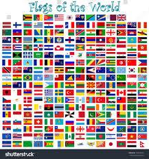 Flags Of The Wrld Flags World Against White Background Abstract Stock Vektorgrafik