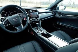 inside of a honda civic 2017 honda civic hatchback sport touring review