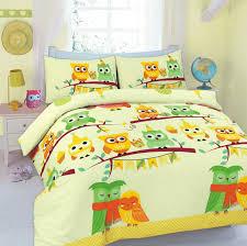 owl print duvet cover bed set