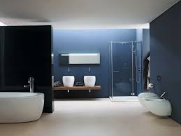 alarming design of blue bathroom ideas with wall also large