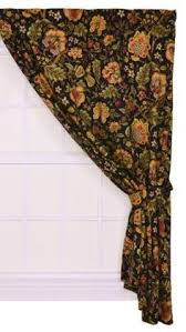 Jacobean Floral Curtains Two 96 X 50 Custom Drapes Rod Pocket Panels In By Onlylinens Via