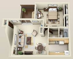 Best Render Plan Images On Pinterest Architecture Apartment - One bedroom house designs