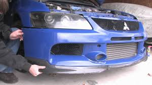 evo 8 spoiler how to remove a front bumper evo 8 9 hid bulb replacement
