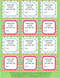 printable christmas food labels baked with love christmas gift