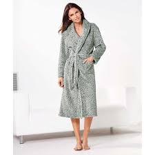 robe de chambre femme robe de chambre polaire léopard femme venca gris gris achat