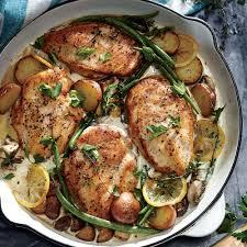 cooking light thanksgiving menu weeknight lemon chicken skillet dinner recipe myrecipes