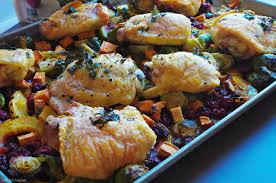 autumn chicken with cranberry harvest vegetables the kitcheneer