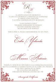 wedding invitations spanish wedding invitation sample
