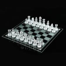 unique chess pieces glass chess set ebay