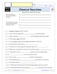 bill nye chemical reactions worksheet stinksnthings