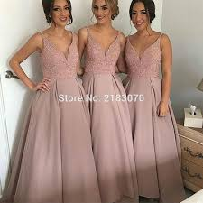 dusty wedding dress dusty pink bridesmaid dress wedding guest dress v neck