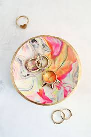 acrylic cat ring holder images Marbled clay ring dish a beautiful mess