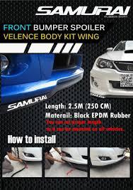 lexus lx top gear for toyota allion premio bumper lip samurai rubber front