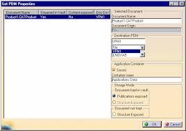 saving dmu applicative data in enovia vpm