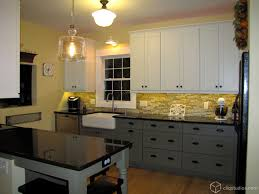 two color kitchen cabinets ideas two tone kitchen cabinets with black and white colors