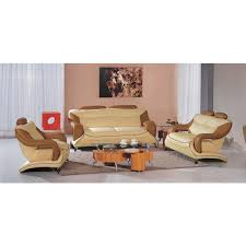 Camel Leather Sofa by 7055 Modern Cream And Camel Leather Living Room Set Leather