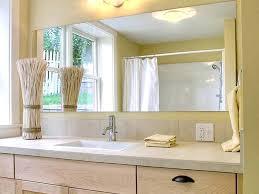 Frameless Bathroom Mirror Bathroom Frameless Mirrors Contemporary Bathroom Idea In With A