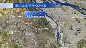 Portland Earthquake Map by 2 8 Magnitude Earthquake Hits Near Cedar Mill