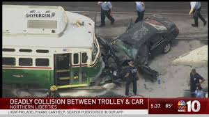 woman killed children injured in philly crash involving trolley