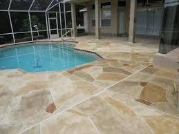 exterior faux stone decorative concrete pool deck 5 blue earth