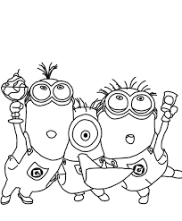 minion coloring free minions despicable coloring pages