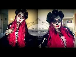 sugar skull halloween makeup tutorial youtube my youtube
