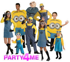 halloween costumes minion kids boys girls ladies mens despicable me gru minion fancy
