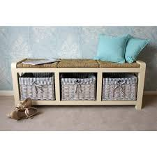 the stylish selsey 2 seater wicker rattan storage wooden bench