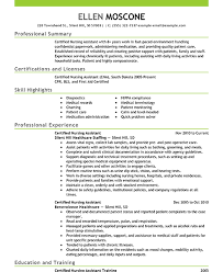 best resume for nursing assistant example of student resume