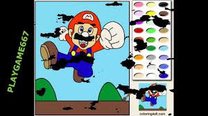 super mario online coloring pages online coloring games youtube