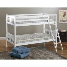 Mattress Bunk Bed Bedroom White Furniture Cool Bunk Beds Built Into Wall For