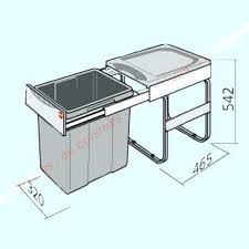 poubelle cuisine encastrable coulissante poubelle encastrable sous evier poubelle cuisine encastrable