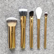 brand tarte makeup brushes golden christmas edition brush blending