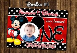 mickey mouse birthday invitations mickey mouse birthday party baby 1st clubhouse