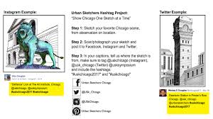 urban sketchers chicago hashtag project show chicago one drawing