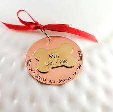 memorial dog ornament pets love grieving paw prints furever