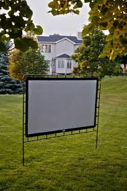 Backyard Projector Screen by Indoor U0026 Outdoor Portable Movie Projection Screen