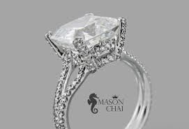square cut engagement ring custom made square cut ring city jewelers