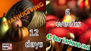 countdown 12 days until thanksgiving and 6 weeks until