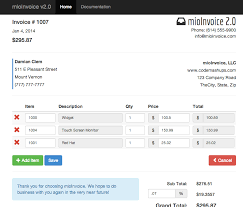 bootstrap templates for invoice bootstrap invoice print mioinvoice php jquery invoice module