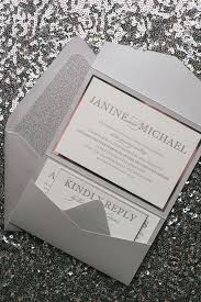 silver wedding invitations best 25 silver wedding invitation suites ideas on