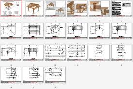 Pergola Blueprints by 16x16 Timber Frame Plan Timber Frame Hq