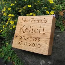 outdoor memorial plaques solid oak outdoor memorial plaque