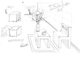 design journal sos oblique drawing to one point perspective