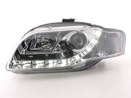 audi a4 headlights audi a4 05 08 b7 chrome led drl daylight running lights devil eye