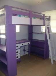 Wooden Loft Bed With Desk Underneath Loft Bunk Beds With Desk And Drawers Foter