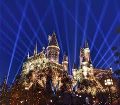 the nighttime lights at hogwarts castle oc mom blog