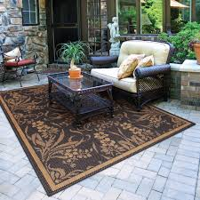 Make Your Own Outdoor Rug by Floor Loop Border Chili Red And Brown Home Depot Outdoor Rugs For